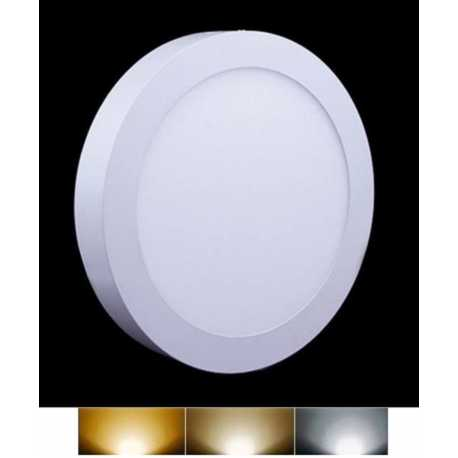 Downlight Panel LED Superficie Redondo Circular 12W 3000K 4000K 6000K