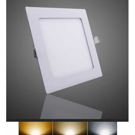 Downlight Panel Plafon LED Empotral Cuadrado 18W 3000K 4000K 6000K