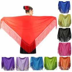 Manton de Colores Liso Para Adulta. Mantones Flamenco Sevillana para fiesta