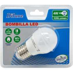 BOMBILLA LED 4W CASQUILLO GORDO E27 LUZ BLANCA 6400K