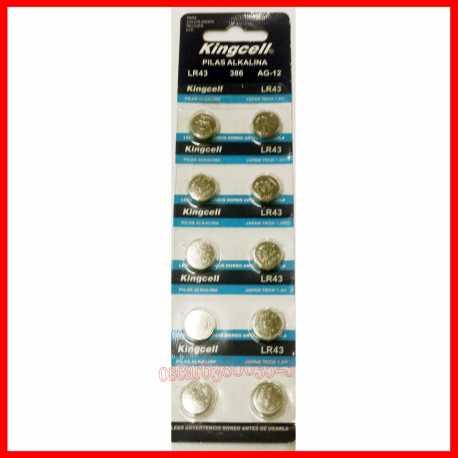 Pilas de boton KINGCELL AG 11 en blister