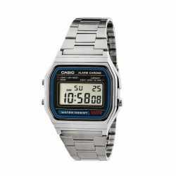 Reloj Casio Retro Plateado A158WA Vintage - Nuevo