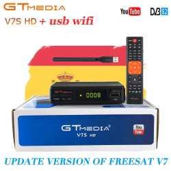 Receptor Satelital GTMedia V7S FREESAT FULL HD 1080p dvb-s2 +RT5370 +ANTENA