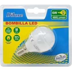 BOMBILLA LED 6W CASQUILLO FINO E14 LUZ CALIDA 3000K