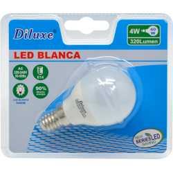 BOMBILLA LED 4W CASQUILLO FINO E14 LUZ BLANCA 6400K