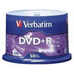 Verbatim DVD-R 16x 4.7 GB Tarrina 50 Unds
