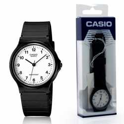 Reloj Casio de pulsera analógico esfera blanca